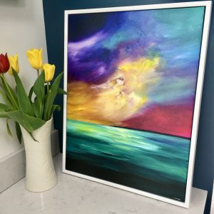 Canvas print in floating frame